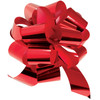 """8"""" Metallic Pull Bows - 50 bows/case - Red"""