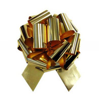 "8"" Metallic Pull Bows - 50 bows/case - Gold"