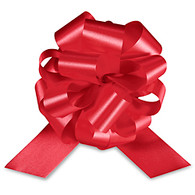 "4"" Matte Pull Bows - 50 bows/case - Red"