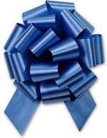 "5"" Matte Pull Bows - 50 bows/case - Royal Blue"