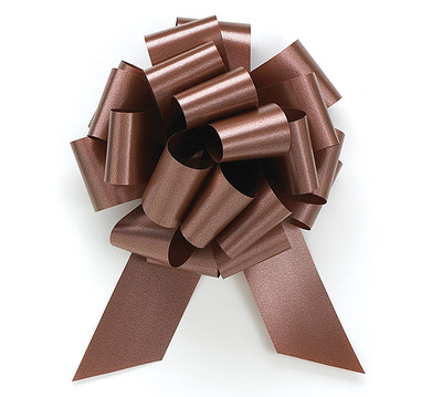 """8"""" Matte Pull Bows - 50 bows/case - Chocolate"""
