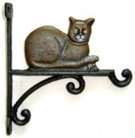 "Cast Iron Cat hook 7.5""x10""H (min. 4)"