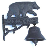 "Black bear door bell  8""x 6""x3"" (min. 4)"