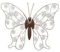 """Hand Crafted Iron butterfly wall decor 27""""x2.5""""x20""""H"""
