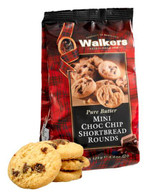 Walkers Pure Butter mini chocolate chip Shortbread rounds 125 gr., 12/cs
