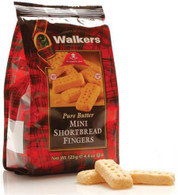 Walkers Pure Butter mini Shortbread fingers 125 gr., 12/cs