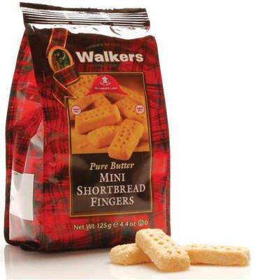 Walkers Pure Butter mini Shortbread fingers 125 gr., 12/cs