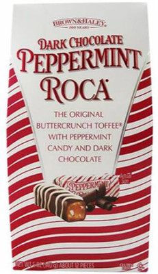 Brown & Hailey Dark chocolate peppermint roca 140 gr., 8/cs