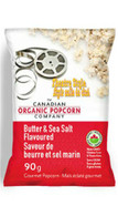 The Canadian Organic Popcorn, Butter & Sea Salt old fashioned kettle corn 90 gr.,  12/cs..