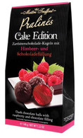 Maitre Truffout dark chocolate balls with raspberry & chocolate filling 148 gr., 6/cs