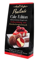 Maitre Truffout milk chocolate balls with strawberry & cheescake filling 148 gr., 6/cs