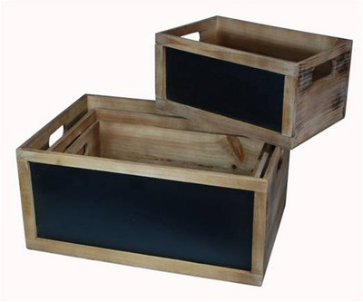 "Extra Large wood box with blackboard 17""x12""x8""H"