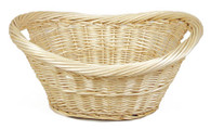 "Extra Large natural willow Laundry Basket with handles 23""x18""x10""H"