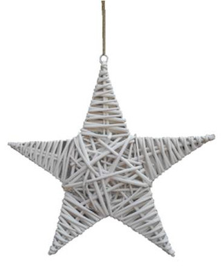 "White willow hanging star 12""D"