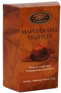 Chocolat Classique Maple Truffles (2 truffles per trapezoid box) 17 gr. 36/cs