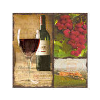 "Cocktail napkins - wine & cheese 5""X5"""