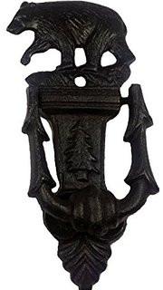 """Cast iron bear door knocker 3""""x1.25""""x7.5""""H"""