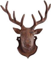 """Cast iron deer head 8""""x4""""x10.5""""H"""