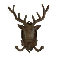 "Cast iron elk hook 9.2""x4""x10.5""H"