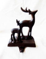 "Cast iron deer Stocking hanger 5""x5""x7""H"
