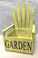 Wooden chair planter - Antique Yellow