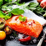 Salmon treat lunch napkins