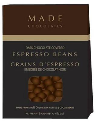 MADE Chocolates - Dark chocolate covered Espresso Beans  57 gr.  18/cs.
