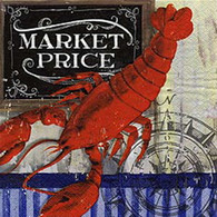 MARKET PRICE lunch napkins - lobster