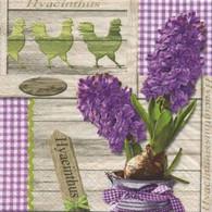 "Lunch Napkins - Hyacinth Bunch 6.5""x6.5"""