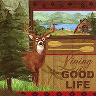 "GOOD LIFE lunch napkins - deer 6.5""X6.5"""