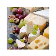 """Cocktail napkins - cheese & grapes 5""""X5"""""""