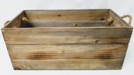 "Wood container with rope handles 16""x8""x7""H"