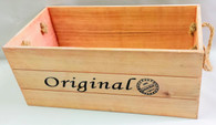 """Original"" wood containers with rope handles 16""x8""x7""H"