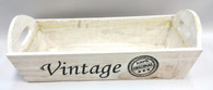 "White wash vintage wood tray 13""x6""x4""H"