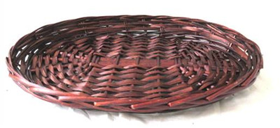 Medium oval stained willow tray