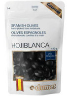 Dumet Hojiblanca Black Spanish Olives 150 gr., 10/cs