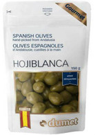 Dumet Hojiblanca Green Spanish Olives 150 gr., 10/cs