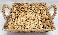 """Square hyacinth basket with handles 12""""x12""""x4""""H"""