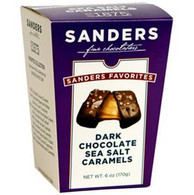 Sanders Chocolate 170 gr.,12/cs - Dark chocolate Sea Salt Caramels