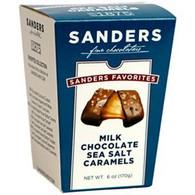 Sanders Chocolate 170 gr.,12/cs - Milk chocolate Sea Salt Caramels