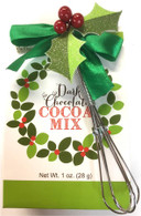 Too Good Gourmet Glamour Dark chocolate cocoa with whisk (green) 28 gr., 24/cs