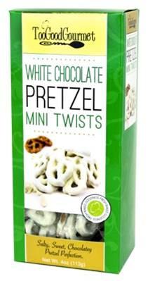 Too Good Gourmet White Chocolate Pretzels (Green) 114 gr., 24/cs