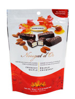 Golden Bonbon Nougat d'Or Belgian chocolate covered honey almond nougat - Crunchy Maple 70 g.r., 24/cs