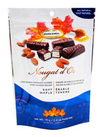 Golden Bonbon Nougat d'Or Belgian chocolate covered honey almond nougat - Soft Maple 70 g.r., 24/cs