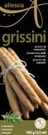 Allessia Grissini breadsticks Rosemary 100 gr., 12/cs