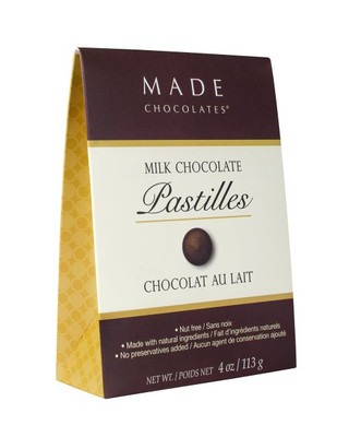 Made Chocolate Pastilles, Milk 100 gr. 12/cs
