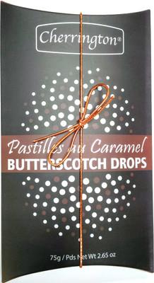 Cherrington Butterscotch drops (black pillow box) 75 gr., 18/cs