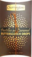 Cherrington Butterscotch drops (brown pillow box) 75 gr., 18/cs
