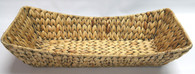 Largest in S/3 long boat shaped hyacinth basket