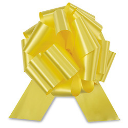 """5"""" Matte Pull Bows - 50 bows/case - Yellow/Daffodil"""